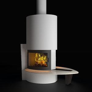 fireplace dubai 3d max