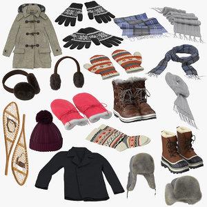 winter hat design 3d obj