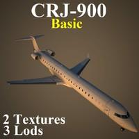 regional jet basic 3d model