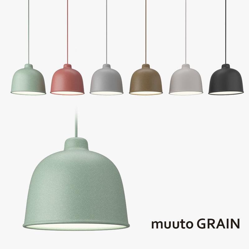 3d model muuto grain lamp