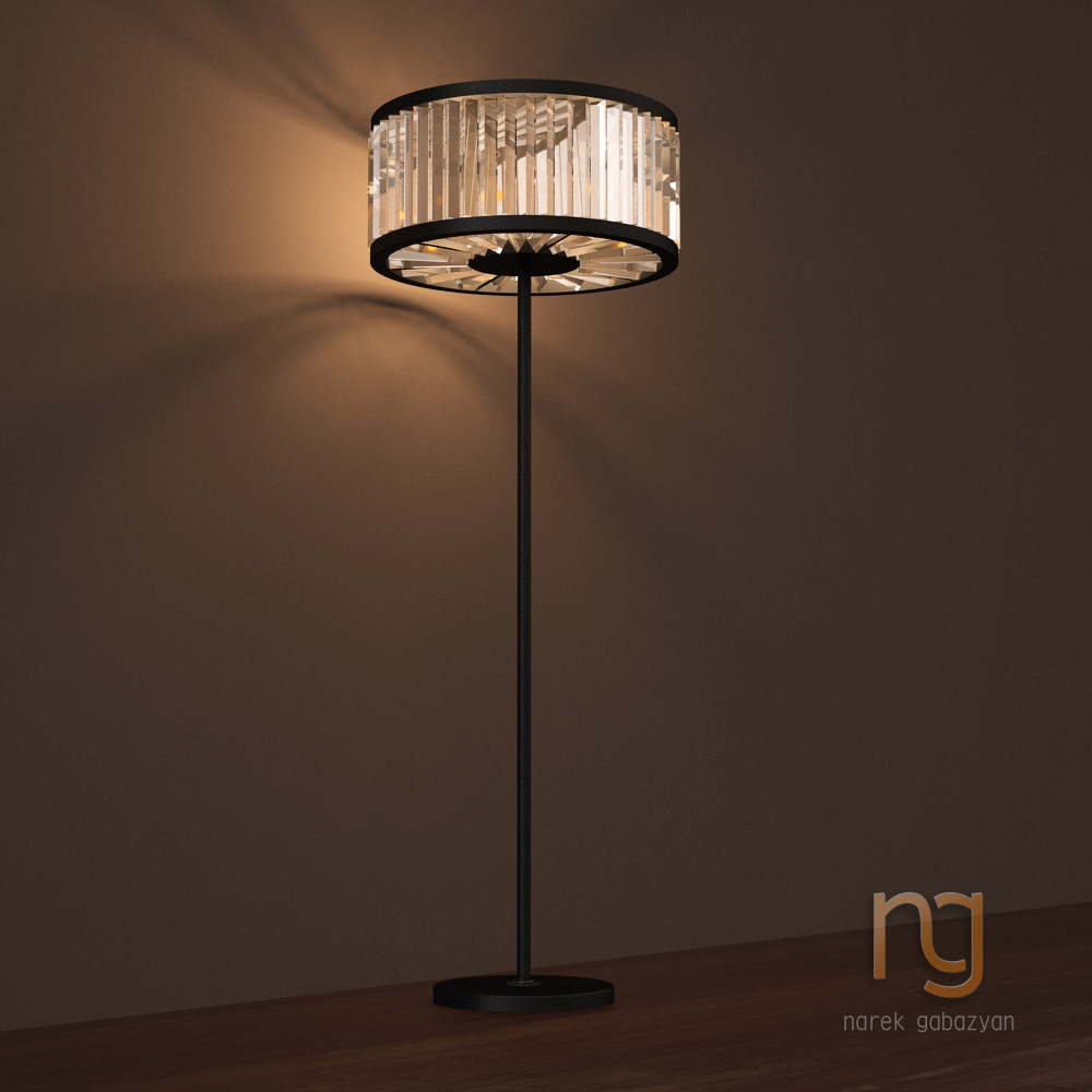 Restoration Hardware Floor Lamps >> Welles Crystal Floor Lamp