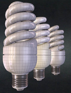 3d obj energy saving lamp