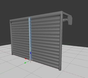 free rigged roller shutters 3d model