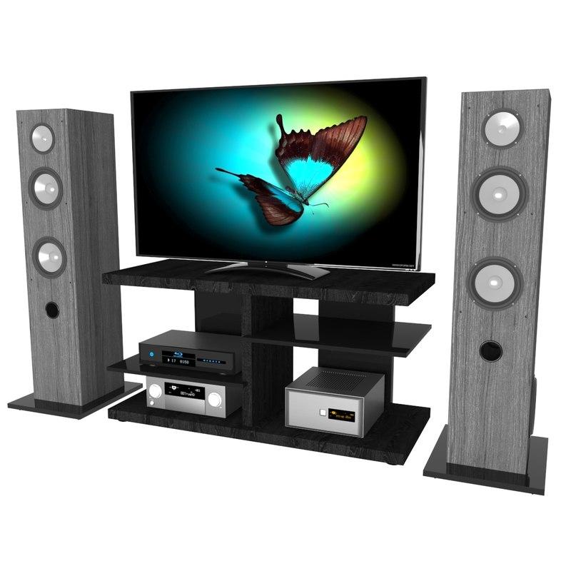 speakers video 3d model