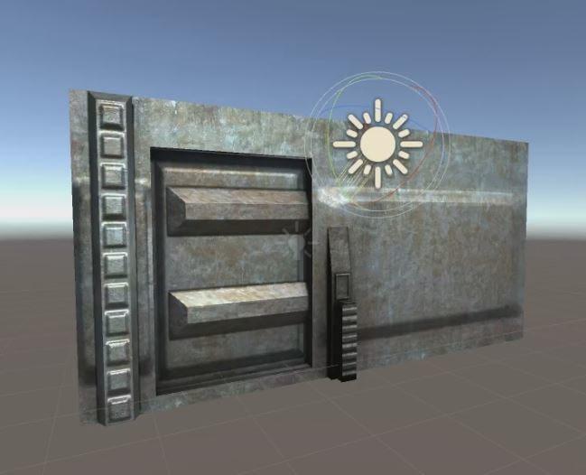 free sci-fi door animation 3d model