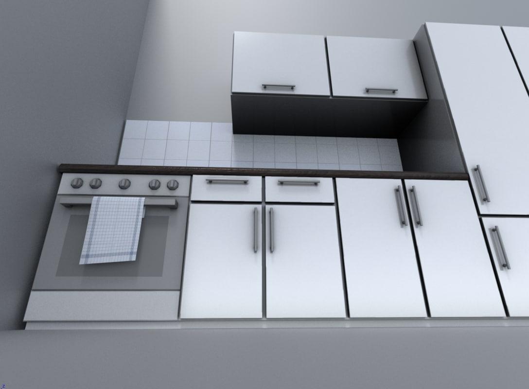 3d model kitchen module