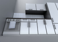 3d model kitchen module