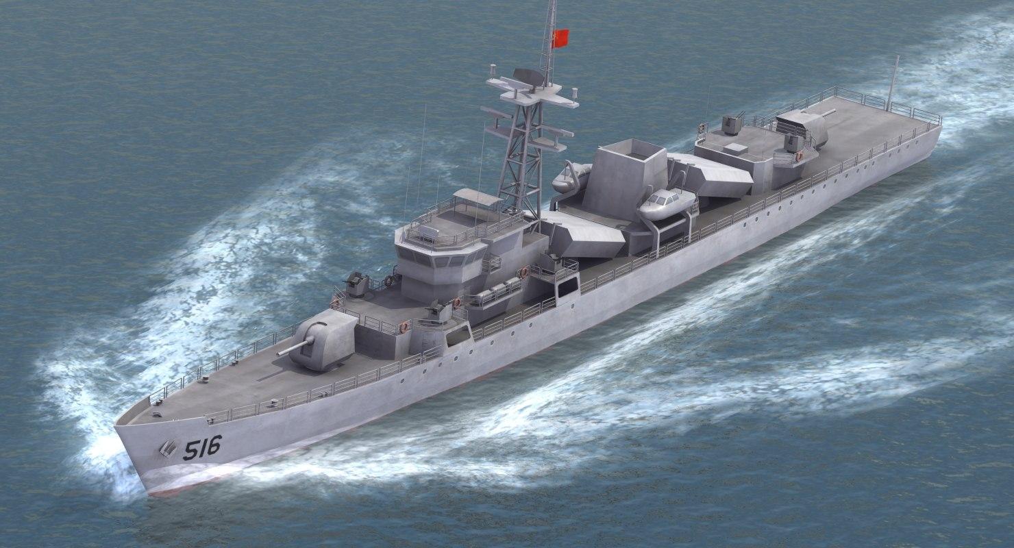 3d type053h jianghu-i frigate