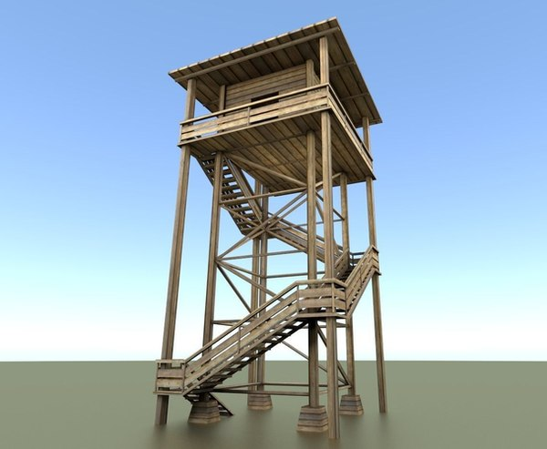 watch tower wood 3d 3ds