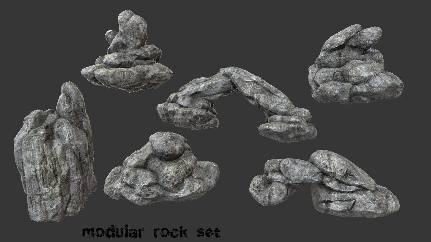rock 3d obj