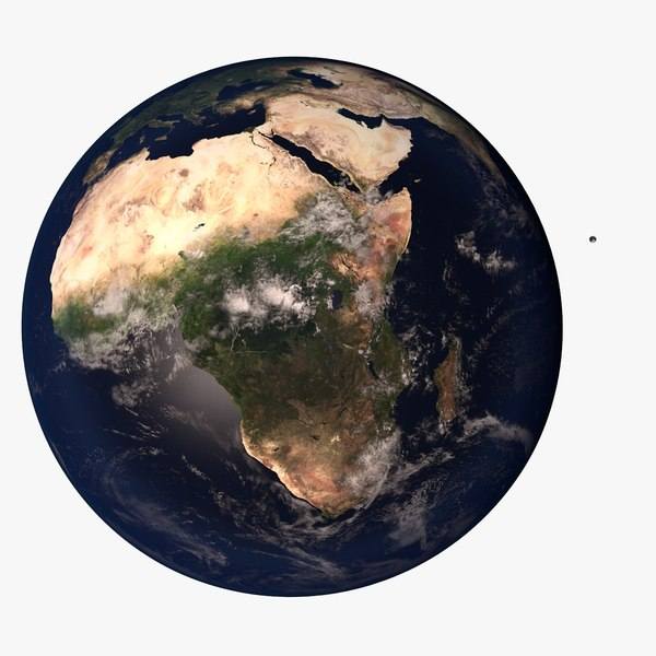 3d earth moon 10k