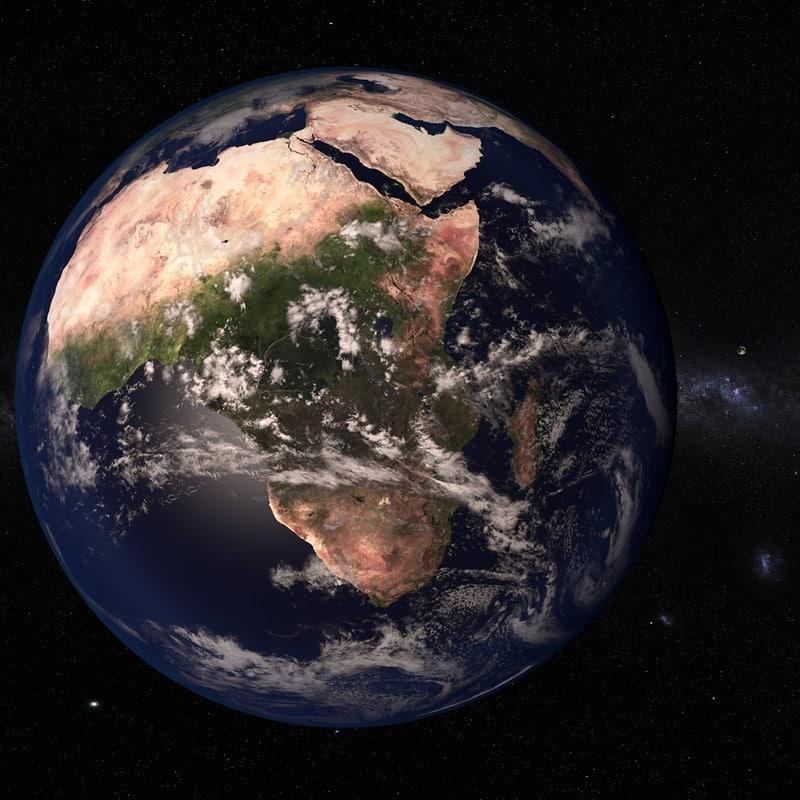 earth moon 21k 3d model
