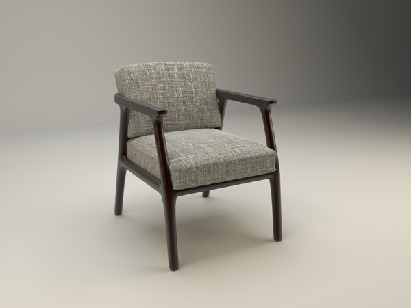 3d model comfortable chair