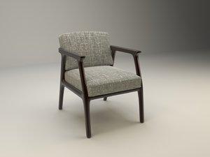 3d model comfortable chair