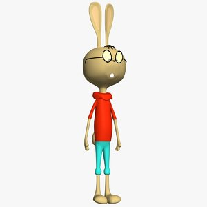 3d model cartoon rabbit