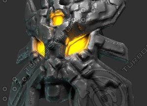 tribe ritual mask 3d obj