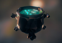 3d style cauldron