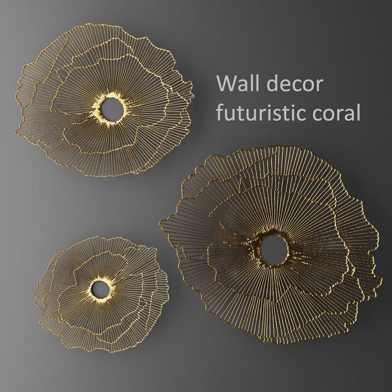 Delicieux Wall Decor Futuristic Coral Max