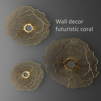 wall decor futuristic coral max