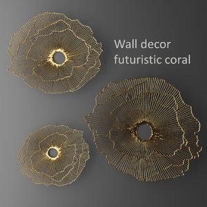 wall decor futuristic coral max