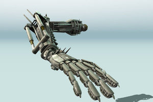 3d rigged robot arms