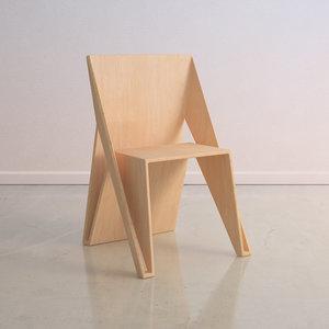 3d modern wooden chair