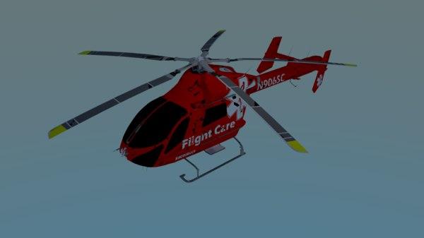 3d medical helicopter