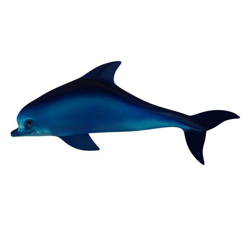 3d dolphin wall