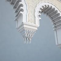 3d model architecture islamic arch