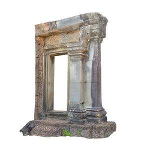 pillar gate temple 8k 3d model