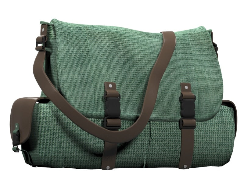 3d model men s handbag