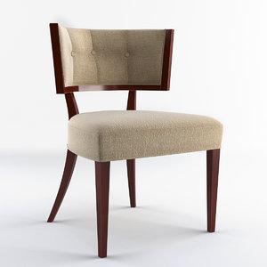 3d model bolier rosenau chair