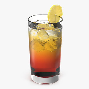 glass ice tea lemon 3d 3ds