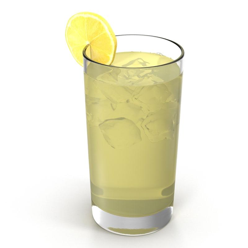glass lemonade modeled max
