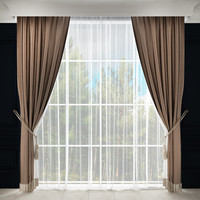 3d model curtain finge tulle