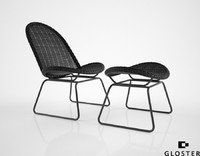 gloster bepal lounge chair 3d max
