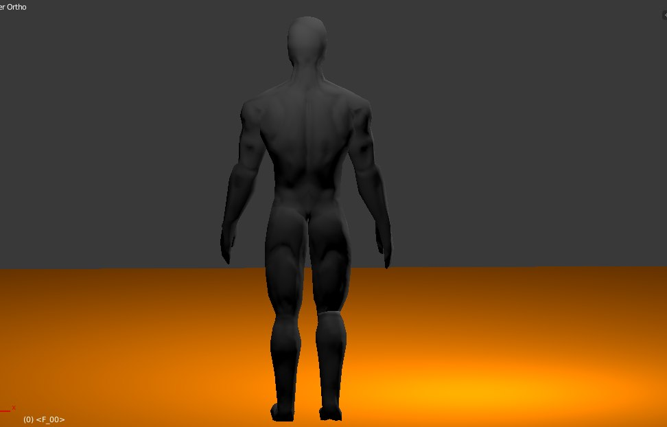 3d rigged male character