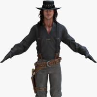 3d obj cowboy 2