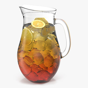 3d model iced tea pitcher modeled