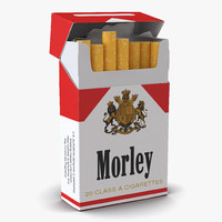 3d opened cigarettes pack morley