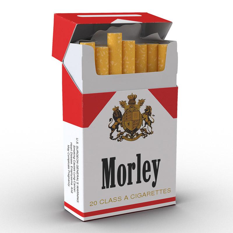 3d opened cigarettes pack morley