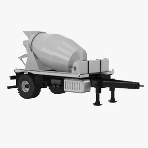 3d cement mixer trailer