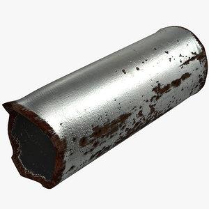 broken iron pipe 2 3d model