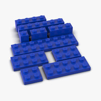 Lego Bricks Set 2 3D Models