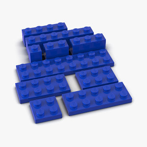 3d model lego bricks set 2
