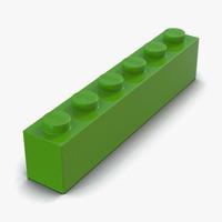 3d model lego brick