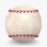 3d model baseball old