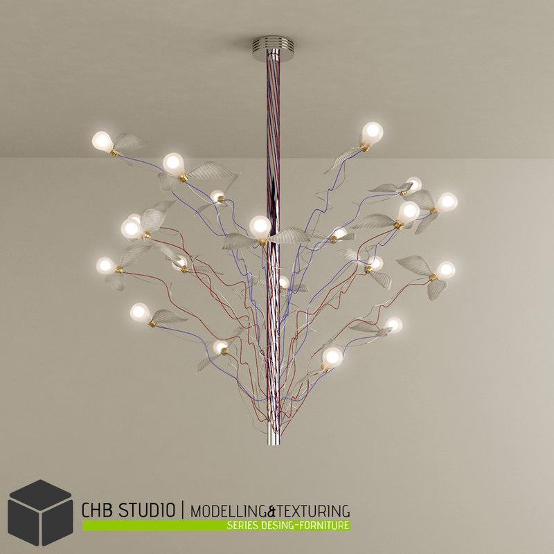 Model chandelier ingo maurer light 3d model chandelier ingo maurer light aloadofball Image collections