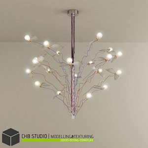 3d model chandelier ingo maurer light