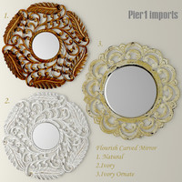 max flourish carved mirror set